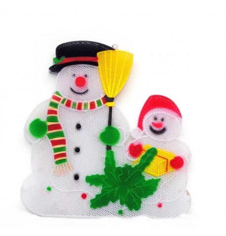 Du sniego seniai - Kalėdinė šviesos dekoracija