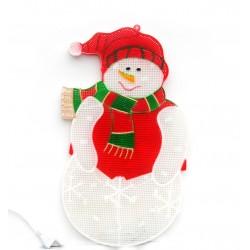 Kalėdinis sniego senis - šviesos dekoracija