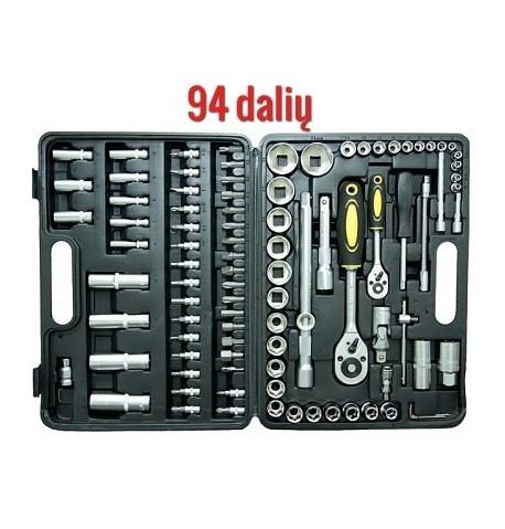 Įrankių galvučių komplektas, Įrankių rinkinys : 94 dalių