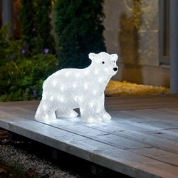 Kalėdinė dekoracija LED Meškutis | šviečianti lauko dekoracija