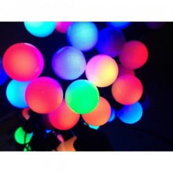 Kalėdinė girlianda RUTULIUKAI 80 LED RGB