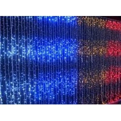 LED lempučių užuolaidą 1m X 9m