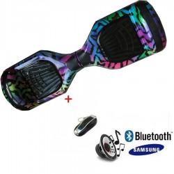 Modernus elektrinis riedis su Bluetooth - colorful STAR