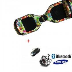Modernus elektrinis riedis su Bluetooth - Painted rooster