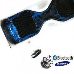 Modernus elektrinis riedis su Bluetooth - Blue flame