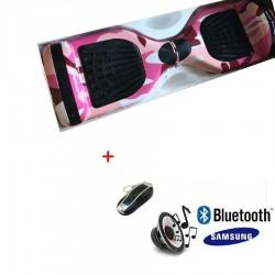 Modernus elektrinis riedis su Bluetooth -Camouflage pink