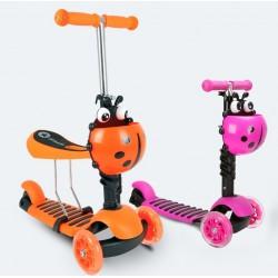 Paspirtukas Boružėlė Scooter 3in1 oranžinis