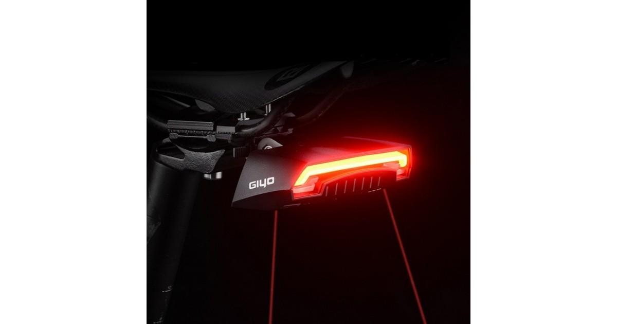 Įkraunamas Lazerinis dviračio žibintas su posūkiais