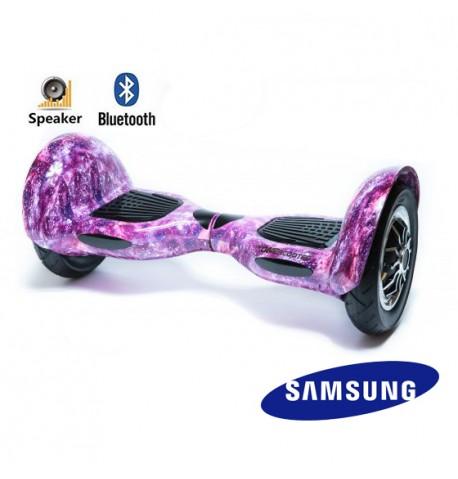 Riedis Dideliais pripučiamais ratais Smart BALANCE Purple sky