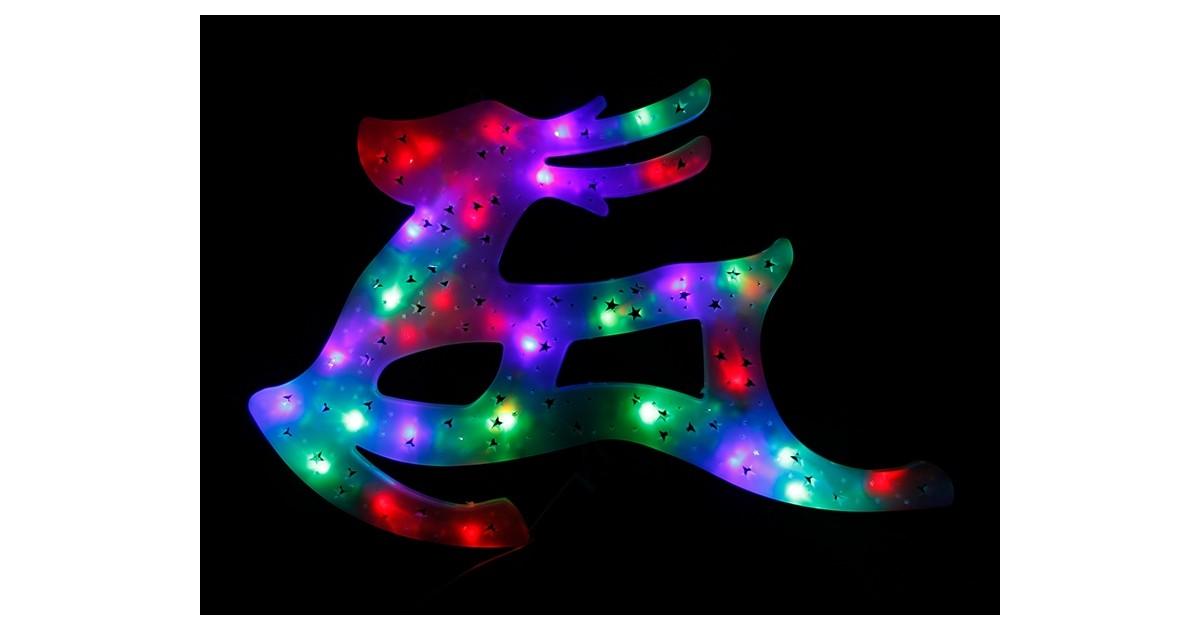 LED Kalėdinės Šiaurės elnias - Šviesos dekoracija