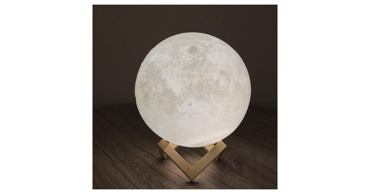 Mėnulio formos pastatoma LED lempa -XL-