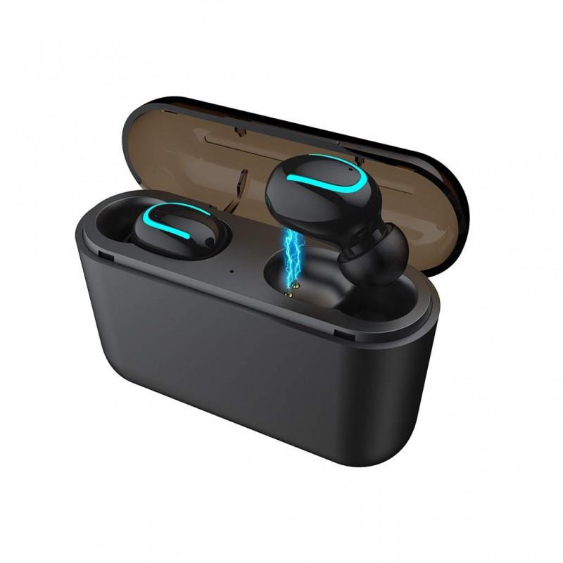 Bevielės Bluetooth ausinės su powerbank HBQ-Q32 TWS