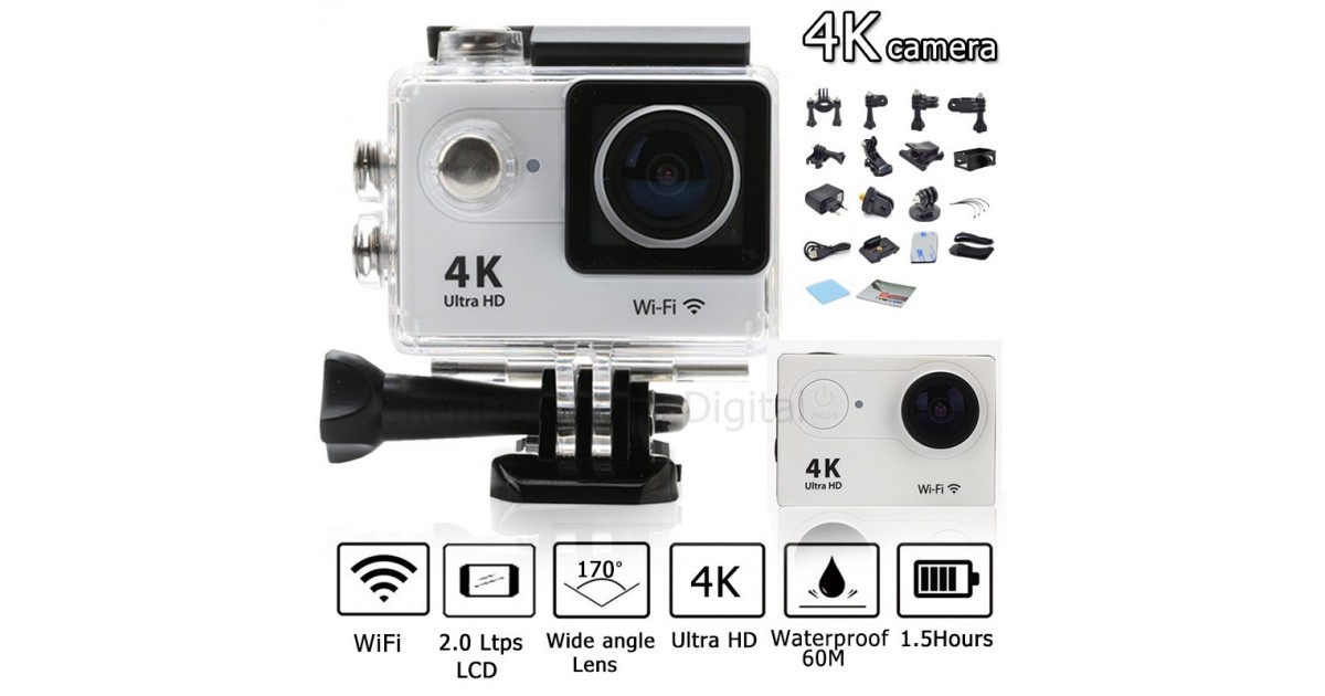 Veiksmo kamera Action cam pro 4 Ultra HD 4k WiFi