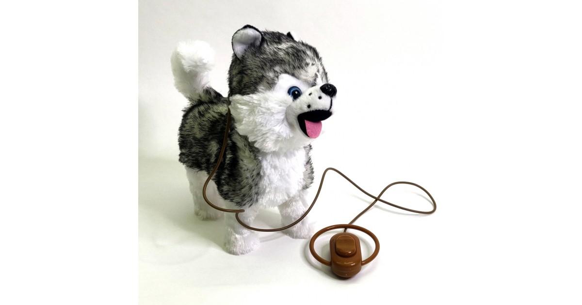 """Interaktyvus šuniukas su pavadėliu """"Haski"""""""