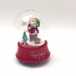 Sniego rutulys - muzikinė dėžutė SANTA IS COMING