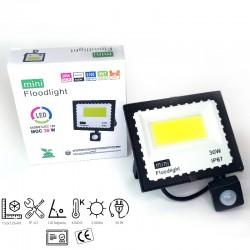 30w LED prožektorius su judesio davikliu 6500k mINI IP67