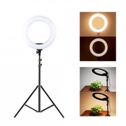 Šviestuvas USB Ring Light 26cm' 10W LED + Stovas