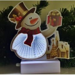 3D LED INFINITY Kalėdinė dekoracija Besmegenis