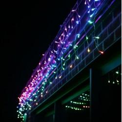DIAMOND girlianda varvekliai RGB 300 LED su storu laidu 12 m