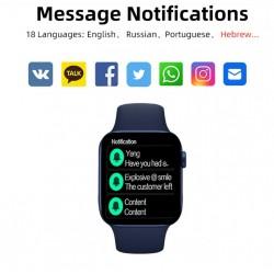 Išmanusis laikrodis IWO W66 DT100 Smartwatch 2021 BLUE