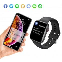 Išmanusis laikrodis IWO W66 DT100 Smartwatch 2021 BLACK