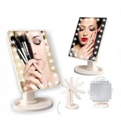 Didelis kosmetinis veidrodis su LED apšvietimu