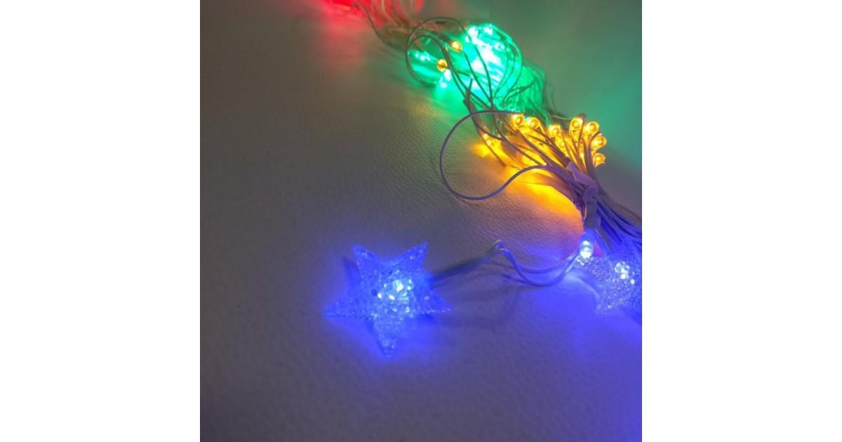 LED lango dekoracija su žvaigždutėmis