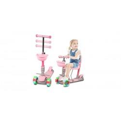 Paspirtukas Scooter 3in1, rožinis