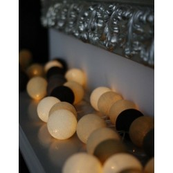 Medvilninių LED burbulų girlianda