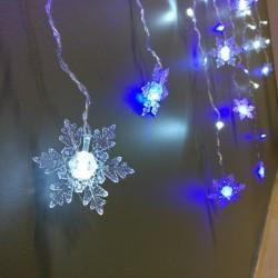 LED užuolaida su snaigėmis 1,2 m.