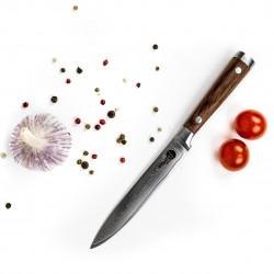Daugiasluoksnio Damasko plieno pjovimo peilis 12cm, KATANAIMI