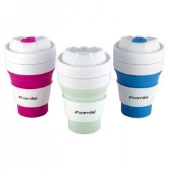 Sportinis puodelis 350 ml sulankstomas KAMILLE 2034