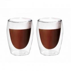 Stiklinių su dvigubomis sienelėmis rinkinys Cappuccino-Set (2vnt.)
